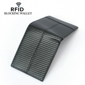 BUBM Dompet Kartu Anti RFID Bahan Kulit Slim Design - TQ-308 - Black - 2