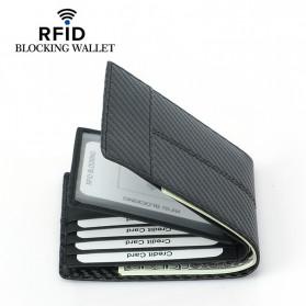 BUBM Dompet Kartu Anti RFID Bahan Kulit Slim Design - TQ-308 - Black - 4