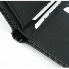 BUBM Dompet Kartu Anti RFID Bahan Kulit Slim Design - TQ-308 - Black - 7
