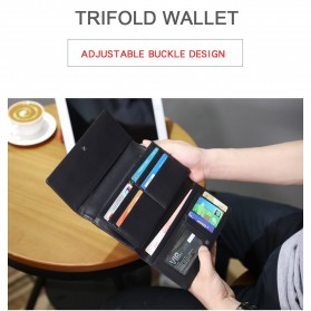Tigernu Dompet Pria Long Wallet Splashproof Oxford - T-S8080 - Black - 7