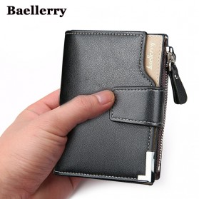 Baellerry Dompet Pria Model Short Double Layer - Black
