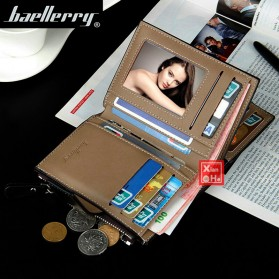 Baellerry Dompet Pria Model Short Double Layer - D1282 - Brown - 3