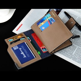 Baellerry Dompet Pria Model Short Double Layer - D1282 - Brown - 4