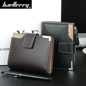 Baellerry Dompet Pria Model Short Double Layer - D1282 - Brown - 5