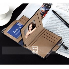 Baellerry Dompet Pria Model Short Double Layer - D1282 - Brown - 6