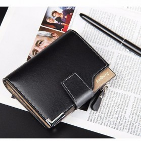 Baellerry Dompet Pria Model Short Double Layer - D1282 - Brown - 7