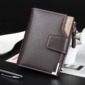 Baellerry Dompet Pria Model Short Double Layer - D1282 - Brown - 8
