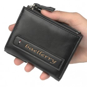 Baellerry Dompet Pria Model Short Vertical - D3208 - Black - 2