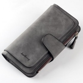 Baellerry Dompet Wanita Model Panjang Three Fold - N2345 - Dark Gray