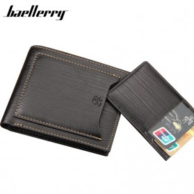Baellerry Dompet Pria PU Leather - D2361 - Black