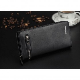 Baellerry Dompet Pria Model Double Zipper PU Leather - 349 - Black - 2