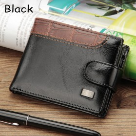 Baellerry Dompet Pria Vintage Hasp PU Leather - M1078 - Black
