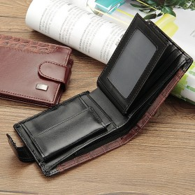 Baellerry Dompet Pria Vintage Hasp PU Leather - M1078 - Black - 5