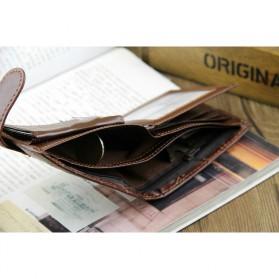 Baellerry Dompet Pria Vintage Hasp PU Leather - M1078 - Black - 7