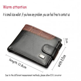 Baellerry Dompet Pria Vintage Hasp PU Leather - M1078 - Black - 8