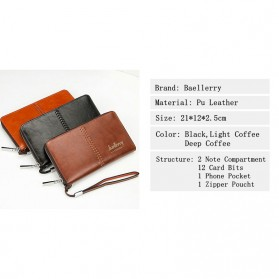 Baellerry Dompet Clutch Pria - W008 - Dark Brown - 2