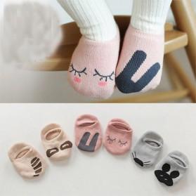 Kaos Kaki Bayi Cute Pattern - Size S - Khaki - 2