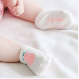 Kaos Kaki Bayi Cute Pattern - Size S - Khaki - 5