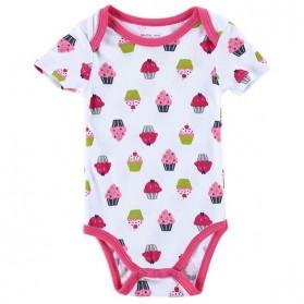Perlengkapan Bayi - Baju Bayi Jumper Cowok Cewek Cute Pattern - Size 6 Bulan - White/Pink
