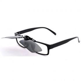 Lensa Jepit Kacamata Day Vision for Night Driving Polarized - Black - 3