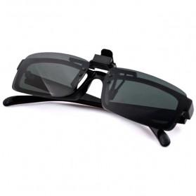 Lensa Jepit Kacamata Day Vision for Night Driving Polarized - Black - 5