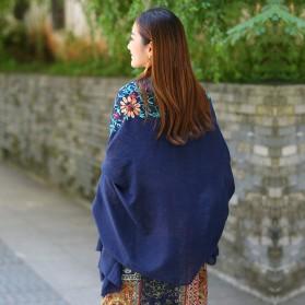 Syal Katun Motif Bunga Scarf Embroidery - Yellow - 5