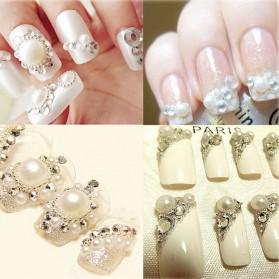 Batu Crystal Dekorasi Gaun Kuku Nail Art Fashion SS10 - White - 2