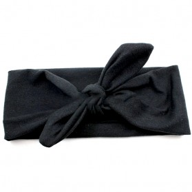 Headband Bandana Wanita Model Pita - Black