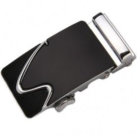 Kepala Gesper Ikat Pinggang Metal Model 1 - Black