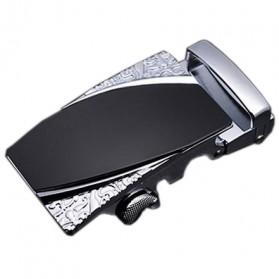 Kepala Gesper Ikat Pinggang Metal Model 5 - Black