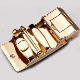 Kepala Gesper Ikat Pinggang Metal Model 6 - Golden - 2
