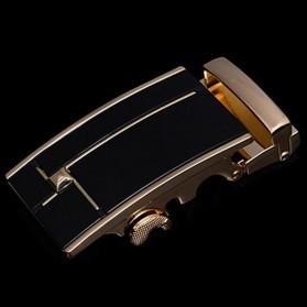 Kepala Gesper Ikat Pinggang Metal Model 6 - Golden - 4