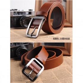 Tali Ikat Pinggang Kulit Style Jepang - Brown - 2