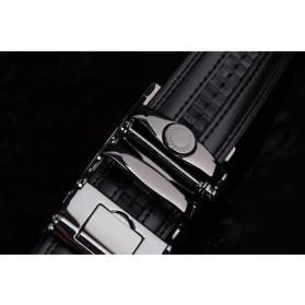 Ikat Pinggang Kulit Premium - Model 2 - Black - 4