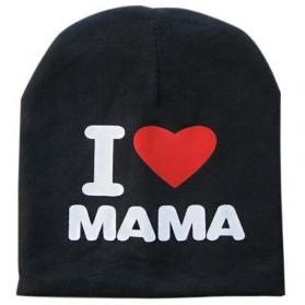 Kupluk Bayi I Love Mama - Black