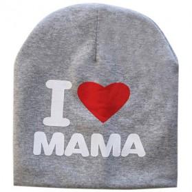 Kupluk Bayi I Love Mama - Gray