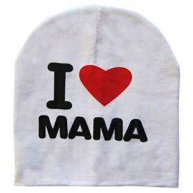 Kupluk Bayi I Love Mama - White