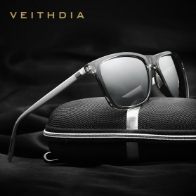 Veithdia Kacamata Retro UV Polarized - Gray - 2