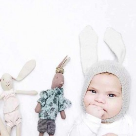 Topi Kupluk Bayi Lucu Model Bunny Ear Beanie Hat - 131 - Gray
