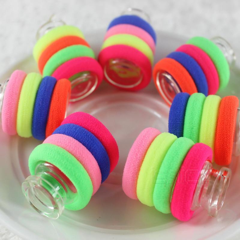 ikat rambut model rainbow multi color 2