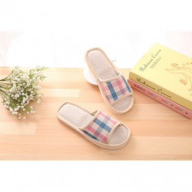 Suihyung Sandal Selop Linen Indoor Size 37-38 - YT3622 - Pink - 3