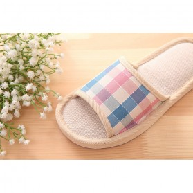 Suihyung Sandal Selop Linen Indoor Size 37-38 - YT3622 - Pink - 4