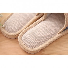 Suihyung Sandal Selop Linen Indoor Size 37-38 - YT3622 - Pink - 6