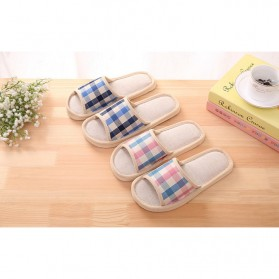 Suihyung Sandal Selop Linen Indoor Size 37-38 - YT3622 - Pink - 9