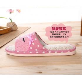 ELEGANTJ Sandal Selop Wanita Cute Indoor ZJ-MM Size 37-38 - Pink - 3