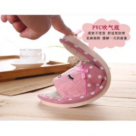 ELEGANTJ Sandal Selop Wanita Cute Indoor ZJ-MM Size 37-38 - Pink - 4