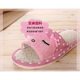 ELEGANTJ Sandal Selop Wanita Cute Indoor ZJ-MM Size 37-38 - Pink - 5