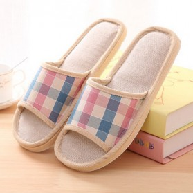 Suihyung Sandal Selop Linen Indoor Size 39-40 - YT3622 - Pink