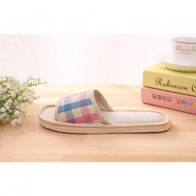 Suihyung Sandal Selop Linen Indoor Size 39-40 - YT3622 - Pink - 4