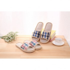 Suihyung Sandal Selop Linen Indoor Size 39-40 - YT3622 - Pink - 9